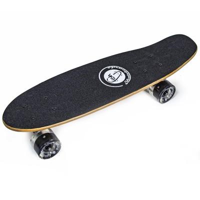 """Деревянный пенни борд """"Fish Skateboards (светящиеся колеса)"""