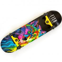 Скейтборд деревянный Fish Skateboard Wolf