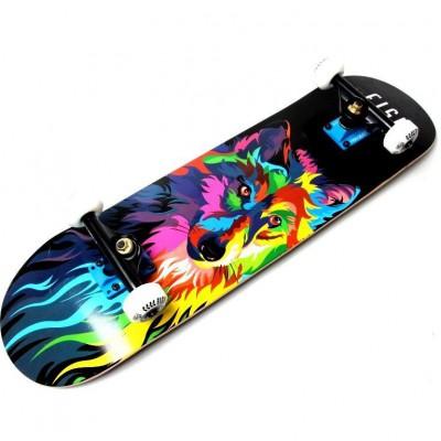 Деревянный скейтборд Fish Skateboard Wolf