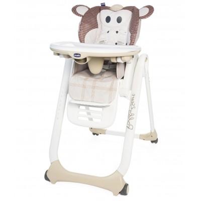 Стульчик для кормления Chicco Polly 2 Start Monkey