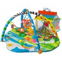 Развивающий коврик с шариками и домиком Lionelo Imke