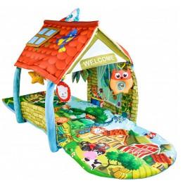 Развивающий коврик-домик 2в1 Lionelo Agnes