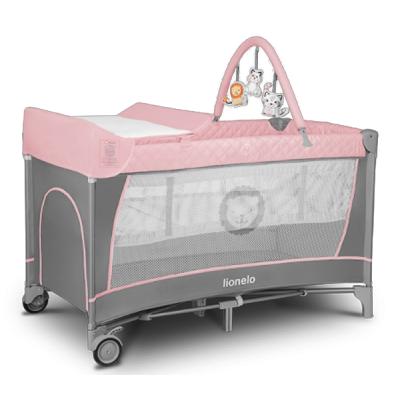 Манеж-кроватка Lionelo Flower Flamingo