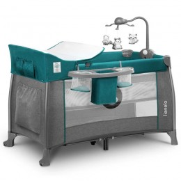 Кроватка-манеж Lionelo Thomi Green Turquoise