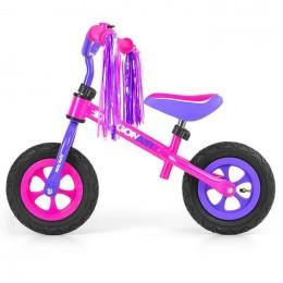 Беговел Milly Mally Dragon Air Pink (надувные колеса)