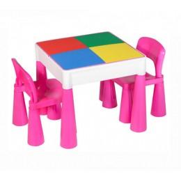 Столик и 2 стула Tega baby Mamut Pink