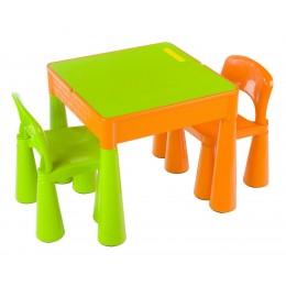 Столик и 2 стула Tega baby Mamut Green-Orange