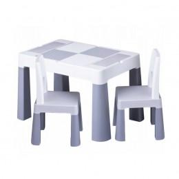 Столик Tega baby Multifun Grey c 2 стульями