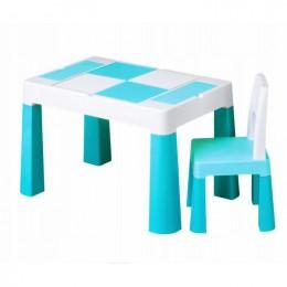 Столик Tega baby Multifun Turquoise c 1 стулом