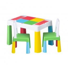 Столик Tega baby Multifun Multi c 2 стульями
