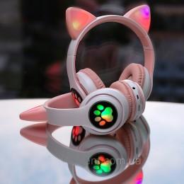 Беспроводные Bluetooth наушники с ушками с LED подсветкой Cat Ear STN-28