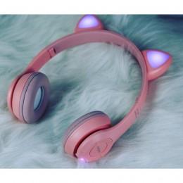 Беспроводные Bluetooth наушники с ушками с LED подсветкой Cat Ear XY-205