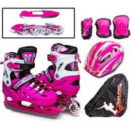 Комплект роликов-коньков 2в1 Scale Sport Pink