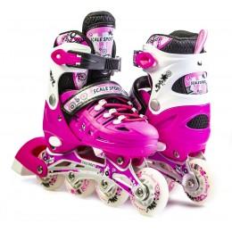 Ролики Scale Sports LF 905 Pink
