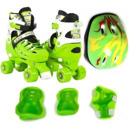 Комплект роликов - квадов Scale Sports Green