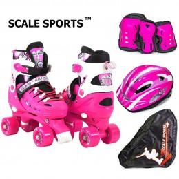 Комплект роликов - квадов Scale Sports Pink