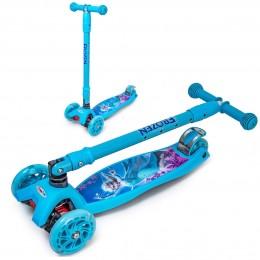 Самокат Maxi Scooter Disney Frozen с наклоном руля складной