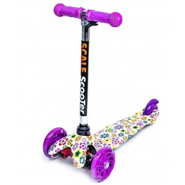 Cамокат Scooter Mini Violet Flowers