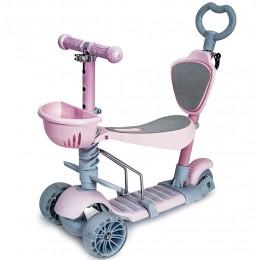 Самокат-трансформер Scooter Smart 5в1 Розовый
