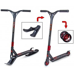 Cамокат - снегокат 2в1 Scale Sports STORM черный (колеса + лыжи)