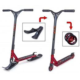 Cамокат - снегокат 2в1 Scale Sports STORM красный (колеса + лыжи)