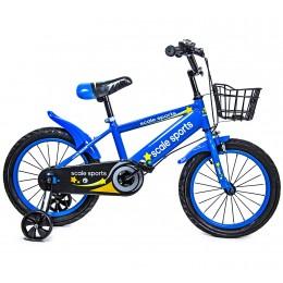 Велосипед 16 дюймов Scale Sports Синий T13, Ручной и Дисковый Тормоз