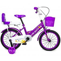 Велосипед 16 дюймов Scale Sports Фиолетовый T15, Ручной и Дисковый Тормоз