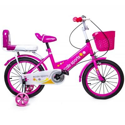 Велосипед 16 дюймов Scale Sports Розовый T15, Ручной и Дисковый Тормоз