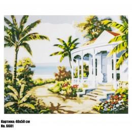 Картина по номерам Дом среди пальм (6681) 40 х 50 см