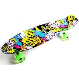 Пенни борд Fish Skateboards Joker (светящиеся колеса)