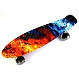 Пенни борд Fish Skateboards Fire and Ice (светящиеся колеса)