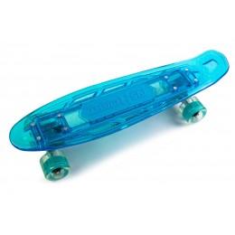Пенни борд Fish Skateboards Blue со светящийся  доской и музыкой
