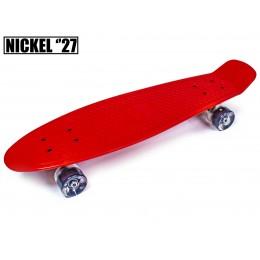 """Пенни борд Nickel 27"""" Красный (светящиеся колеса)"""