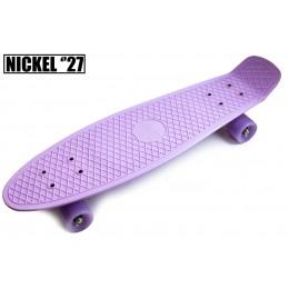 """Пенни борд Nickel 27"""" Лиловый (светящиеся колеса)"""