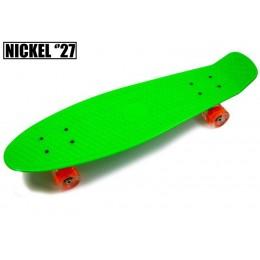 """Пенни борд Nickel 27"""" Зеленый (светящиеся колеса)"""