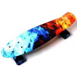 Пенни борд Fire and Ice (светящиеся колеса)