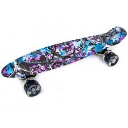 Пенни борд Purple Forest (светящиеся колеса)