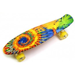 Пенни борд Sunflowers (светящиеся колеса)