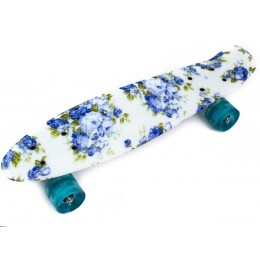 Пенни борд Blue Rose (светящиеся колеса)
