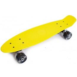 Пенни борд Penny Yellow (светящиеся колеса)