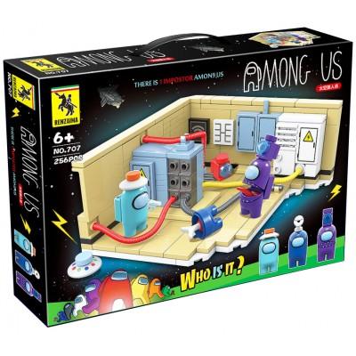 Конструктор Among Us комната Electrical (256 деталей)