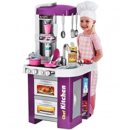 Детская игровая кухня со светом, звуком и водой