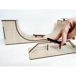 Рампа - трамплин для фингербордов из 2 частей
