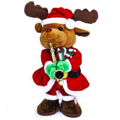 Танцующий и поющий новогодний олень