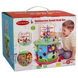 Деревянная игрушка-сортер 10 в 1 Лабиринт