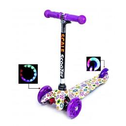 Самокат детский Scooter Mini. Violet Flowers
