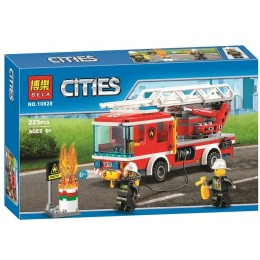 """Конструктор Bela 10828 """"Пожарный грузовик с лестницей"""" 225 деталей"""
