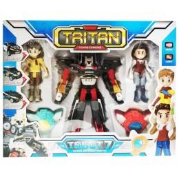 Игрушка Тобот робот-трансформер Q1906 Тритан с героями