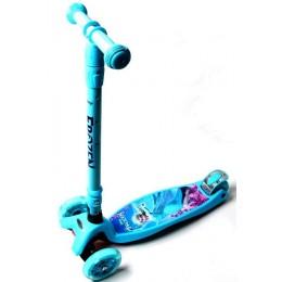 Самокат Maxi Scooter Disney Frozen с наклоном руля и складная ручка