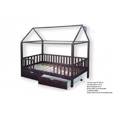 Кроватка домик с ящиками 01